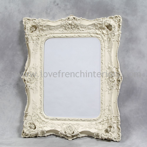 Classic Styled Antique White French Mirror